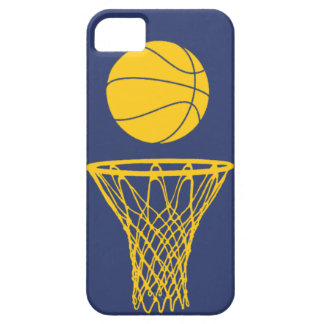iPhone 5 Basketball Silhouette Pacers Blue Case For The iPhone 5