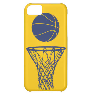 iPhone 5 Basketball Silhouette Pacers Gold iPhone 5C Cover
