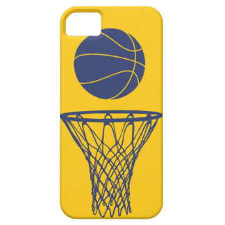 iPhone 5 Basketball Silhouette Pacers Gold iPhone 5 Covers