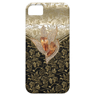 iPhone 5 Black Damask Caramel Beige Gold Amber iPhone 5 Cases