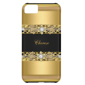 iPhone 5 Black Floral Gold iPhone 5C Case