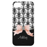 IPhone 5 Bow Floral Leaf Damask Ribbon Jewels Name iPhone 5 Case