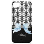 IPhone 5 Bow Floral Leaf Damask Ribbon Jewels Name Case For The iPhone 5