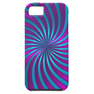 iPhone 5 Case blue and pink spiral vortex