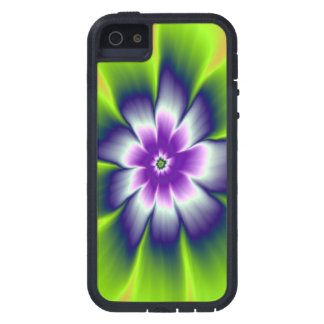 iPhone 5 Case  Blue Green and Violet Daisy Flower