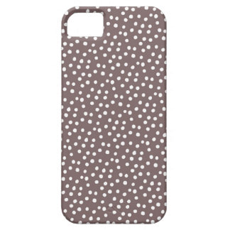 iPhone 5 case - Brown w/ white polka dots