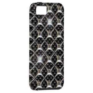 iPhone 5 case Carbon Chrome Bling 3D