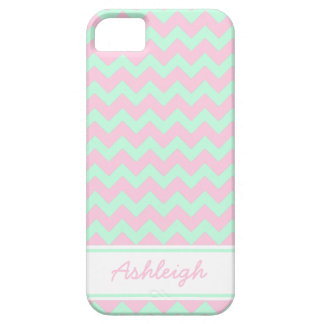 iphone 5 Case Chevron -- Mint and Pink Chevron