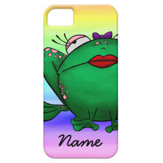 iPhone 5 Case, Cute Cartoon Frog, Name Template iPhone 5 Cover