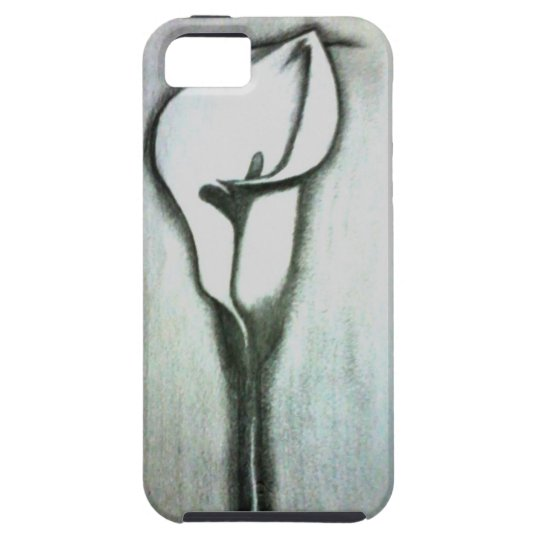 Iphone 5 case - Flower sketch