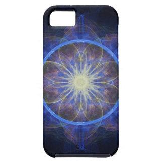 iPhone 5 Case fractal art black and blue