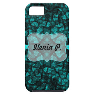 iPhone 5 Case fractal art black and green