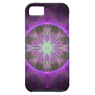iPhone 5 Case fractal art black and pink