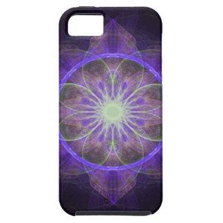 iPhone 5 Case fractal art black and purple