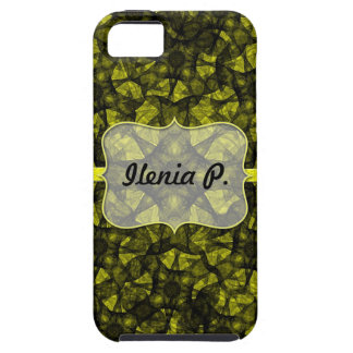 iPhone 5 Case fractal art black and yellow