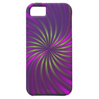 iPhone 5 Case green and pink spiral vortex
