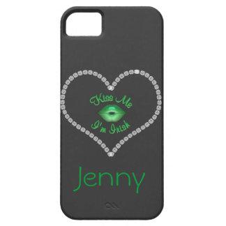 IPHONE 5 CASE GREEN BLING IRISH