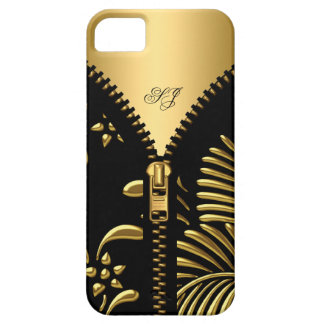 iPhone 5 Case-Mate Gold Damask Black Zipper