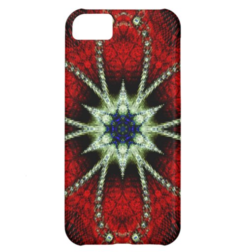 Iphone 5 case Red Fractal iPhone 5C Cases