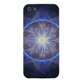 iPhone 5 Case Savvy fractal art black and blue