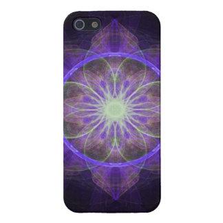iPhone 5 Case Savvy fractal art black and purple