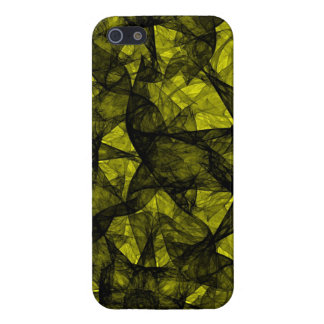 iPhone 5 Case Savvy fractal art black and yellow