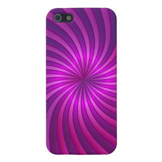 iPhone 5 Case Savvy hot pink spiral vortex