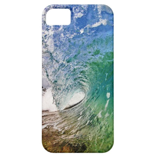 Iphone 5 Case Shades of Blue Ocean Wave Photo