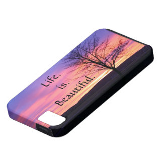 iPhone 5 Case with Life Saying Quote