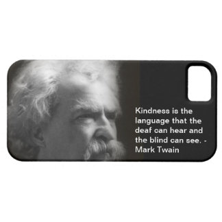 iPhone 5 case with Mark Twain image and quote