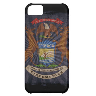 Iphone 5 Case with state flag of Michigan