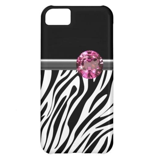 iPhone 5  Case Zebra Bling iPhone 5C Cover