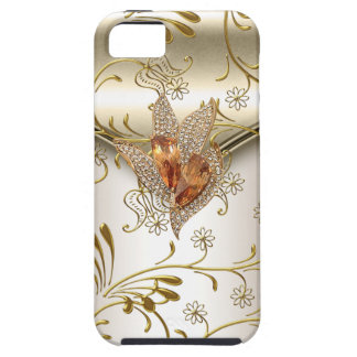iPhone 5 Damask Caramel Cream Beige Gold Amber iPhone 5 Covers