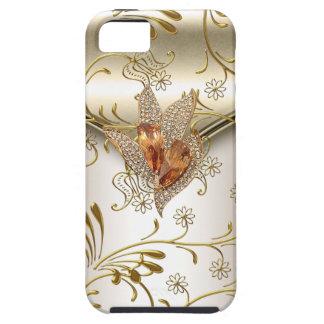 iPhone 5 Damask Caramel Cream Beige Gold Amber iPhone 5 Covers