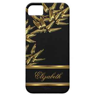 iPhone 5 Elegant Classy Asian Bamboo Black Gold iPhone 5 Case