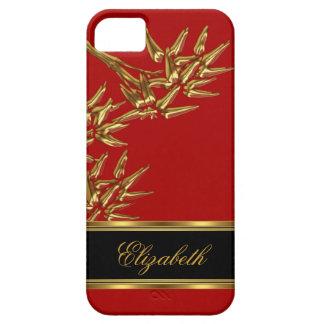 iPhone 5 Elegant Classy Asian Bamboo Red Gold iPhone 5 Covers