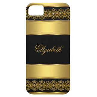 iPhone 5 Elegant Classy Gold Black iPhone 5 Covers