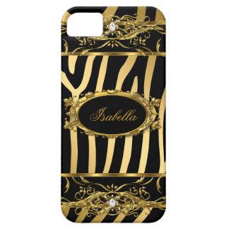 iPhone 5 Elegant Classy Gold Zebra Black Barely There iPhone 5 Case