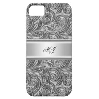 iPhone 5 Elegant Classy Silver White iPhone 5 Case