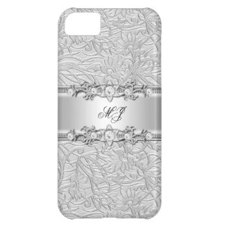 iPhone 5 Elegant Classy Silver White iPhone 5C Case
