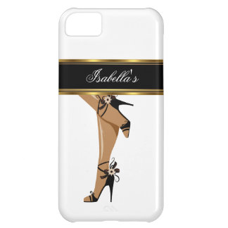 iPhone 5 Elegant Gold White Black Shoes Legs iPhone 5C Case