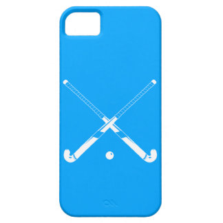 iPhone 5 Field Hockey Silhouette Blue Barely There iPhone 5 Case