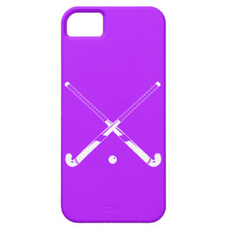 iPhone 5 Field Hockey Silhouette Purple iPhone 5 Cases