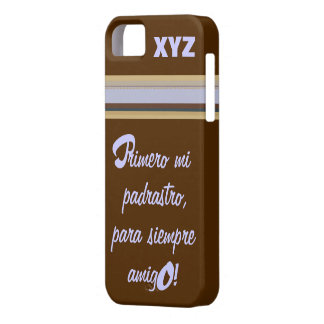 iphone 5 His Initials-Stepfather/Padrastro Barely There iPhone 5 Case