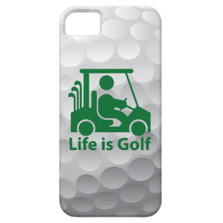 Iphone 5 Life is Golf Case Green Golfer in Cart iPhone 5 Cases