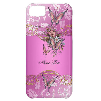 iPhone 5 Pink Gold Butterfly iPhone 5C Case
