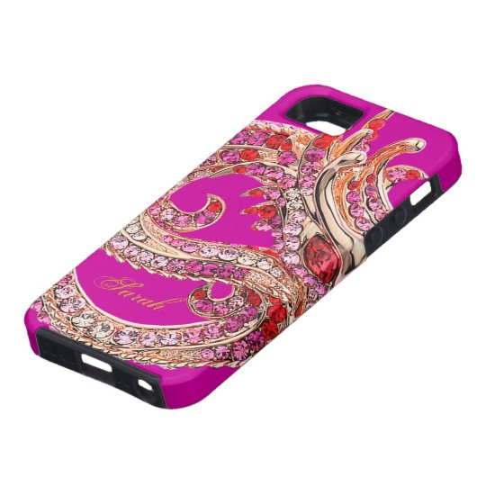 iPhone 5 Pretty Pink Bejeweled Tough iPhone 5 Case