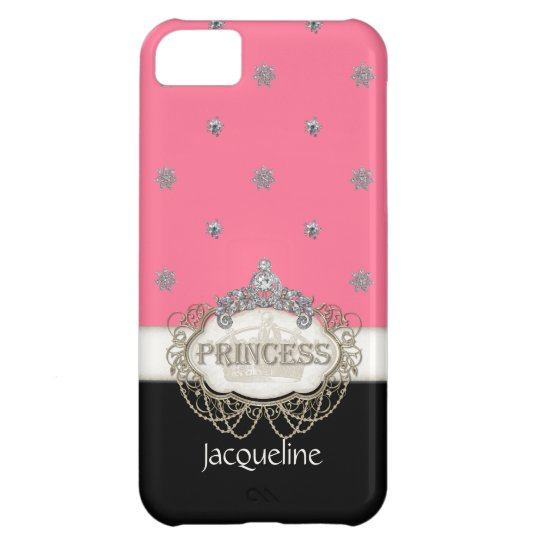 Iphone 5 Princess Jewel Bling Crown Personalised iPhone