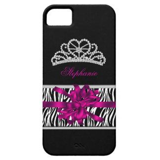 iPhone 5 Princess Silver Tiara Pink Zebra iPhone 5 Cover