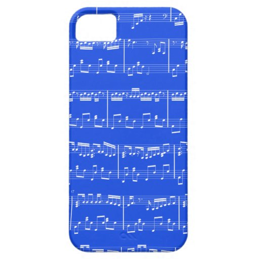 iPhone 5 Sheet Music Royal Blue iPhone 5 Cases